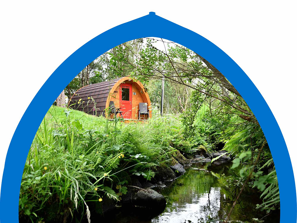 Isle of Skye Glamping Exterior Image with river